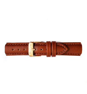 Leather strap Rose Gold Brown